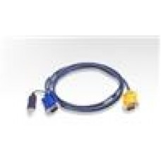 Aten 2L-5202UPKVM Cable SPHD15M - USB A M, HD15M 2m
