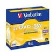 Verbatim DVD+RW 4.7GB 5Pk Jewel Case 4x