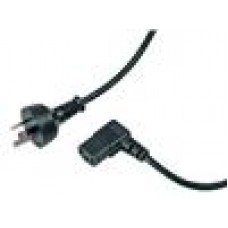 Cabac Power Cord Right Angle Wall to PC, PSU or Monitor 3 pin to IEC Kettle Cord Plug Australian 240V Lead (LS)
