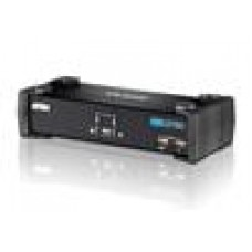 Aten 2 Port USBDVI KVMP Switch w/USB Hub,Audio,Cables Include