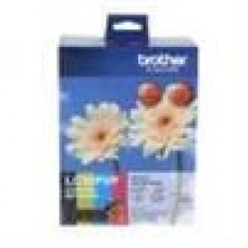Brother LC-39 Photo Value Pack 1xBk 1xYel 1xMag 1xCyan Paper