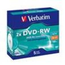 Verbatim DVD-RW 4.7GB 5Pk Jewel Case 2x