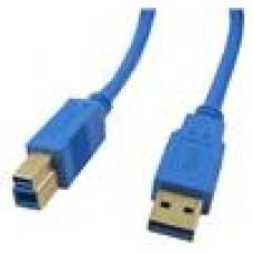 Cable 3m USB 3.0 AM-BM Gold/P Blue Cable