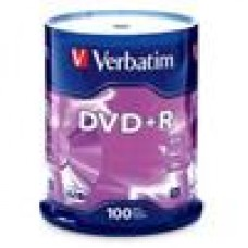 Verbatim DVD+R 4.7GB 100Pk Spindle 16x