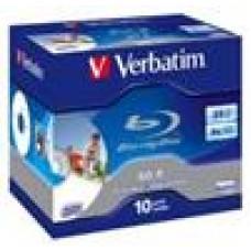 Verbatim Blu-Ray BD-R 6X 10Pk 25GB, Jewel Case, Inkjet Print