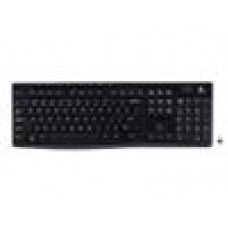 Logitech K270 2.4 GHz Wireless Full Size Keyboard 128-bit AES encryption 24-month battery life Spill resistant Durable UV-coated keys - 920-003057