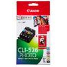 Canon CLI526 Ink Value Pack BK/C/M/Y + 50 Sheets Paper