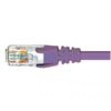 Cabac 5m CAT6 RJ45 LAN Ethernet Network  Snagless/Moulded Purple Patch Lead