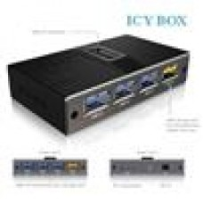 Icy Box 4 Port USB3 Hub Plus 1 Port USB3 Charge Port Mobile