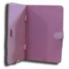 LeaderTab7 Folio Case Pink Faux Leather. Camera hole rear