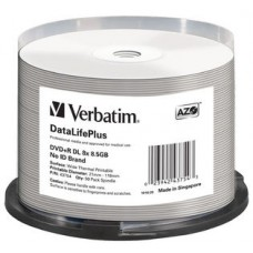 Verbatim DVD+RDL 8.5GB 50PK Wide Thermal Print 8X