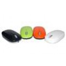 Kazee UFO Optical Mouse Black Retractable USB Cable 1000DPI