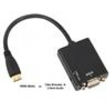 8Ware HDMI to VGA Adapter With Audio, 1080P Support (LS->CBAT-HDMIV1.4VGA-MF)