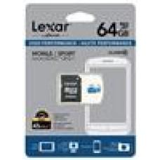 Lexar High-Performance 300x 64GB microSDHC microSDXC UHS-I Card - Upto 45MB/s w/Adapter (LS)