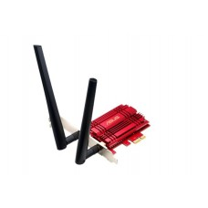 Asus PCE-AC56 Dual-Band AC1300 PCI-E Wireless Adapter,  AiRadar,  aluminum heatsink, 2x detachable magnetic antennas, antenna base and  LowProfile Brk