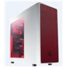 (LS) Bitfenix Neo White + Red Mesh Side Windowed USB3.0+USB2.0