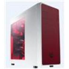 (LS) Bitfenix Neo White + Red Mesh Side Windowed USB3.0+USB2.0