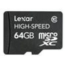 Lexar 64GB CL10 MicroSD Card SD Adaptor Included
