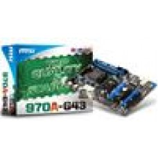 MSI AMD 970A-G43 ATX Motherboard - AM3+ DDR3 SATAIII USB3 RAID CF (LS)