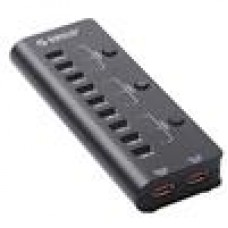 ORICO 9 Port 3 On/Off Switches 2 Charging Ports USB2.0 Ultra-Mini HUB with 1M USB2.0 Cable