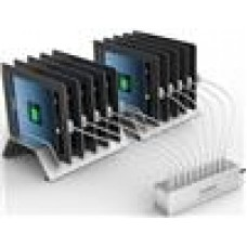 ORICO 10 Port USB Charging Stn with Aluminium Tablet Stand