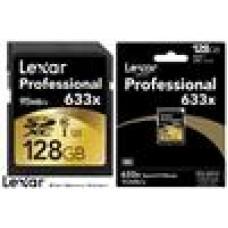 Lexar Professional 633x 128GB SDHC SDXC UHS-I Card - Upto 95MB/s (LS)