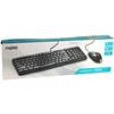 RAPOO N1820 Wired Keyboard Mouse Optical Combo Black (LS)