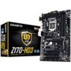 Gigabyte GA-Z170-HD3 MB LGA1151 4xDDR4 VGA DVI HDMI Realtek GbE LAN PCIEX16 2xCrossFire M.2 3xSATAE 6xSATA3 8xUSB3 ATX