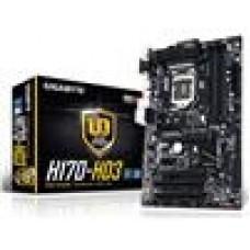 Gigabyte GA-H170-HD3 MB LGA1151 4xDDR4 VGA DVI HDMI Realtek GbE LAN 2xCrossFire M.2 2xSATAE 6xSATA3 8xUSB3 ATX