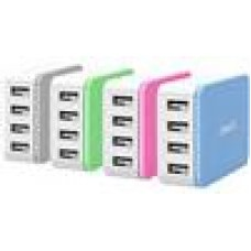 ORICO 4 x USB Port - Desktop Charger - Pink