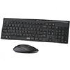 RAPOO X8100 2.4GHz Multimedia Wireless Keyboard Mouse Combo Black - 1000dpi,NanoReceiver (LS)