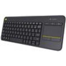 Logitech K400R PLUS  Black Trackpad, Wireless,Media Keys