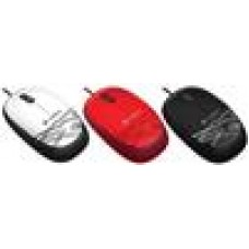 Logitech M105 Corded Optical Mouse White - High-definition optical tracking Full-size comfort Ambidextrous design - 910-002932