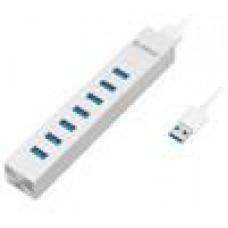 ORICO Aluminum 7 Port USB3.0 Hub for Windows XP / Vista / 7 / 8 / Linux / Unix / Mac OS - Silver