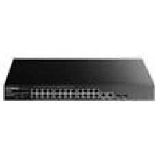 Edimax 16-Port Fast Ethernet PoE+ and 8 Fast Ethernet Ports with 2 Gigabit Combo Ports Web-Smart Switch (260W)