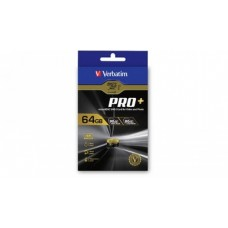 Verbatim Pro+ 4k Micro SDHC 64GB (Class 10 UHS-I) with Adaptor