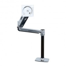 Ergotron LX HD Sit-Stand Desk Mount LCD Arm Polished
