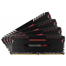 Corsair 32GB (4x8GB) DDR4 3200MHz Vengeance Black Heat spreader with Red LED