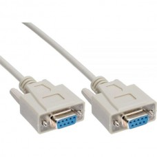 Astrotek 1m Serial RS232 Null Modem Cable - DB9 Female to Female 7C 30AWG-Cu Molded Type Wired crossover for data transfer between 2 DTE devices LS