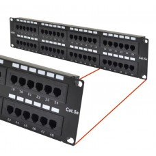 Astrotek 48 Ports UTP Patch Panel CAT5e RJ45 for 19
