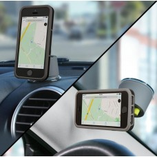 Logitech +Drive Car Mount One Touch Smartphone Universal Windshield Holder Cradle for iPhone Samsung HTC Sony & more Dark Grey Color LS