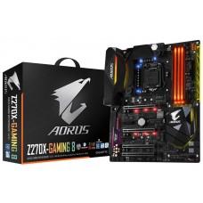 Gigabyte AORUS GA-Z270X-Gaming-8 LGA1151 ATX MB 4xDDR4 1xPCIEx16 RAID 2xM.2 2xU.2 DP HDMI 2xLAN Killer NIC Creative Sound Thunderbolt