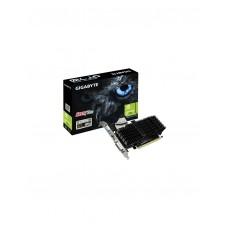Gigabyte nVidia GeForce GT 710 2GB PCIe Video Card DDR3 4K 3xDisplays HDMI DVI VGA Low Profile Heatsink Silent LS->GV-N710D3-2GL