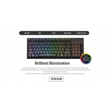 Coolermaster Masterkeys Pro M RGB Mechanical Keyboard (Silver switch), Software & Hardware Programmable