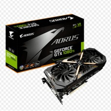 Gigabyte nVidia GeForce GTX 1080 Ti AORUS 11GB PCIe Video Card GDDR5X 8K 3xDP 4xHDMI DVI 1708/1683 MHz VR Link RGB ~GV-N108TAORUS-X-11GD