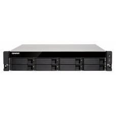 QNAP TS-831XU-RP-4G NAS, 8BAY (NO DISK), 4GB, AL-314 QC, USB,GbE(2),10GbE SFP+(2),2U,2YR