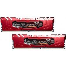 G.SKILL Flare X 32GB (2x16GB) DDR4 2400Mhz C15 1.2V Gaming Memory Red AMD Ryzen