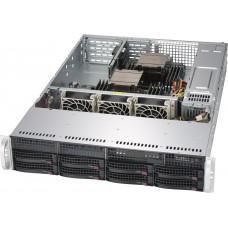 Supermicro 2U, 1+1 740W, Rack, 8x 3.5