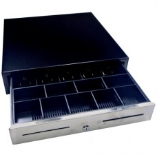 GC54 Cash Drawer Black Lockable Cash Drawer 24 Volt 5 Note 8 Coin