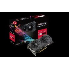 Asus AMD Radeon ROG Strix RX570-O4G DDR5 PCIe Video Card 5120x2880 2xDVI 1xHDMI 1xDP 1310/1300MHz